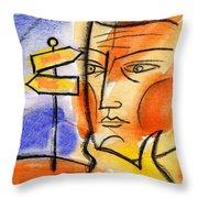 Roadway Throw Pillow by Leon Zernitsky