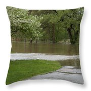 Roadway Turned Boat Launch Throw Pillow