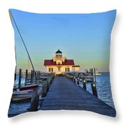 Roanoke Marches Lighthouse Throw Pillow