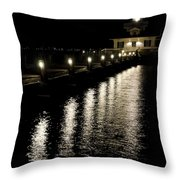 Roanoke Marshes Lighthouse Throw Pillow