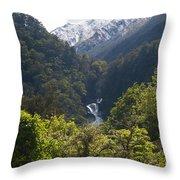 Roaring Billy Falls Throw Pillow