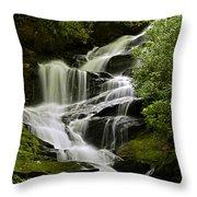 Roaring Creek Falls Throw Pillow