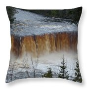 Roaring Falls Throw Pillow