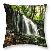 Roaring Forest Waterfall Throw Pillow