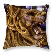 Roaring Lion Ride Throw Pillow