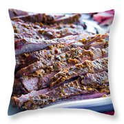 Roast Lamb Is Served Throw Pillow
