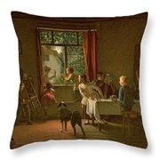 Roast Pig, 1862 Throw Pillow