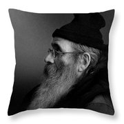 Rob Profile Throw Pillow