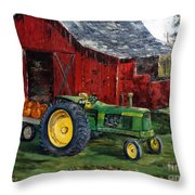 Rob Smith's Tractor Throw Pillow by Lee Piper