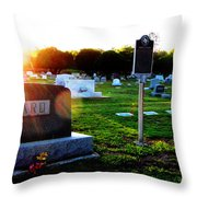 Robert E Howard Is At Rest And In His Grave Throw Pillow