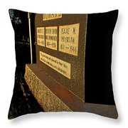 Robert E Howard's Gravestone Throw Pillow
