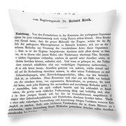 Robert Koch: Paper, 1881 Throw Pillow