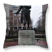 Robert Morris Financier Of The American Revolution Throw Pillow by Bill Cannon