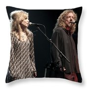 Robert Plant And Alison Kraus Throw Pillow