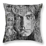 Robert Plant - Led Zeppelin Throw Pillow