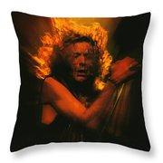 Robert Plant Led Zeppelin Throw Pillow