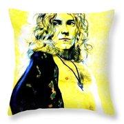 Robert Plant Of Led Zeppelin   Throw Pillow