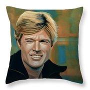 Robert Redford Throw Pillow