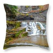 Robert Treman Waterfall Throw Pillow