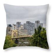 Roberto Clemente Bridge Pittsburgh Pa Throw Pillow