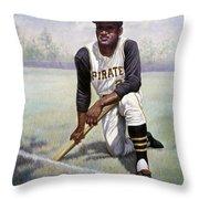 Roberto Clemente Throw Pillow
