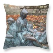 Robin Hood And His Men Take A Rest Throw Pillow