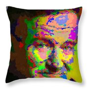 Robin Williams - Abstract Throw Pillow