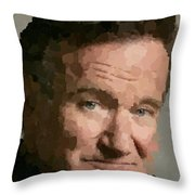 Robin Williams Portait Throw Pillow