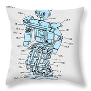 Robot Patent Throw Pillow