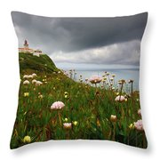 Roca Lighthouse Throw Pillow