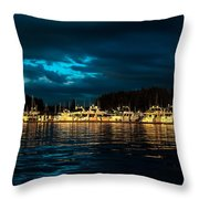 Roche Harbor  At Sunset Throw Pillow