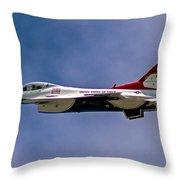 Rochester Air Show Thunderbirds Throw Pillow