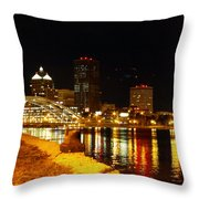 Rochester At Night Throw Pillow