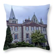 Rochester Cathedral Cafe Throw Pillow