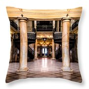 Rochester City Hall Main Hall Throw Pillow