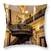 Rochester City Hall Stairs Throw Pillow