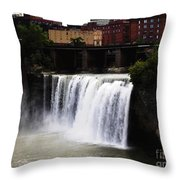 Rochester Ny High Falls Throw Pillow