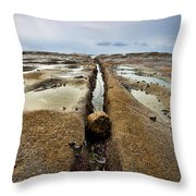 Rock And A Hard Place Throw Pillow