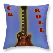 Rock And Roll - Les Paul Throw Pillow