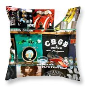 Rock And Roll On St. Marks   Nyc Throw Pillow