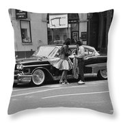 Rock And Roll Radio Campaign Throw Pillow