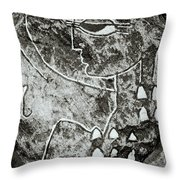 Surreal Lady Throw Pillow