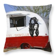 Rock Away Trail Riders Palm Springs Throw Pillow