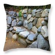 Rock Bench Throw Pillow