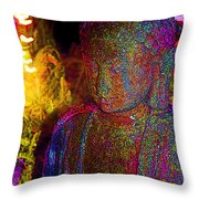 Rock Buddha Throw Pillow