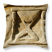 Rock Carvings Between Fillmore Throw Pillow