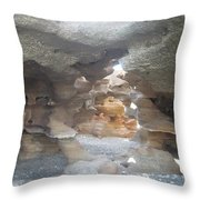Rock Cave Throw Pillow