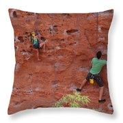 Rock Climbing 101 Throw Pillow