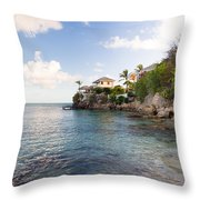 Rock Cottage Throw Pillow