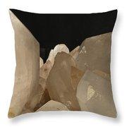 Rock Crystals Throw Pillow